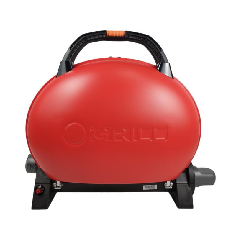 Gratar portabil cu capac O-GRILL 500, 2.7 kW, aprindere automata, 211 g/h, temperatura reglabila, Rosu shopu.ro