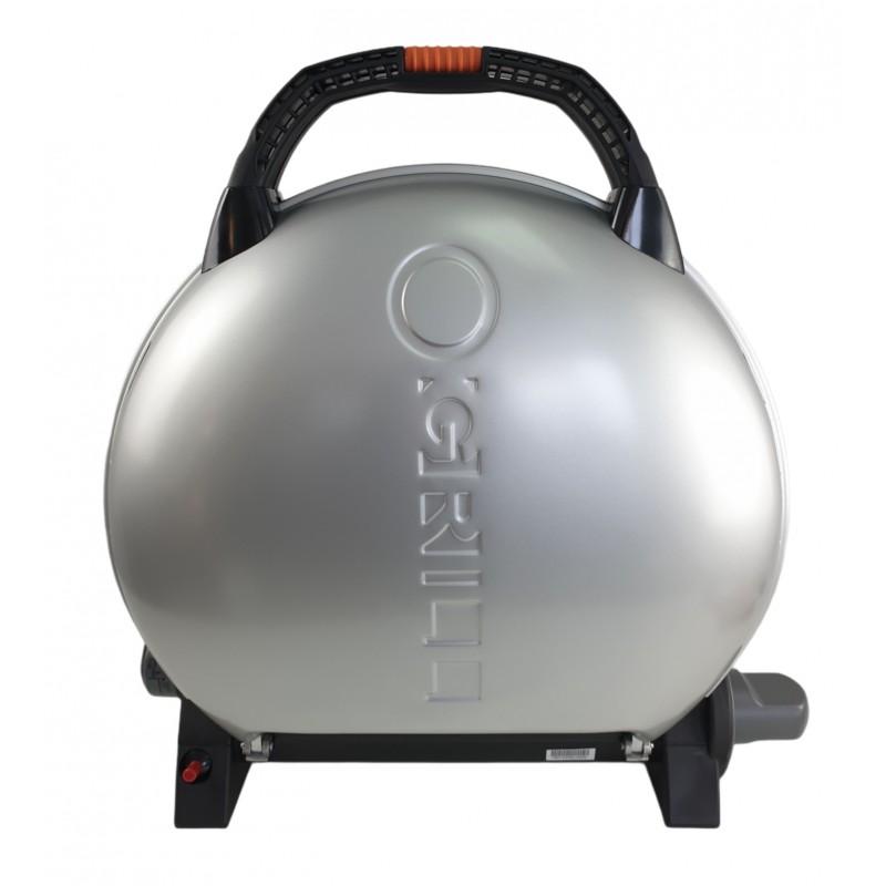 Gratar portabil cu capac O-GRILL 600, 3.2 kW, aprindere automata, 232 g/h, temperatura reglabila, Argintiu 2021 shopu.ro