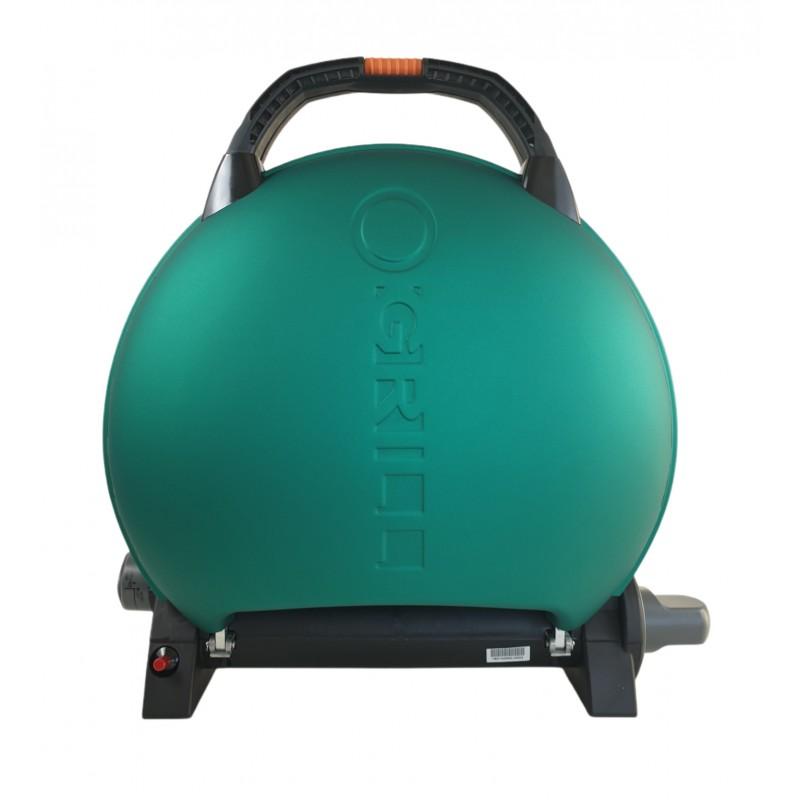 Gratar portabil cu capac O-GRILL 600, 3.2 kW, aprindere automata, 232 g/h, temperatura reglabila, Verde shopu.ro