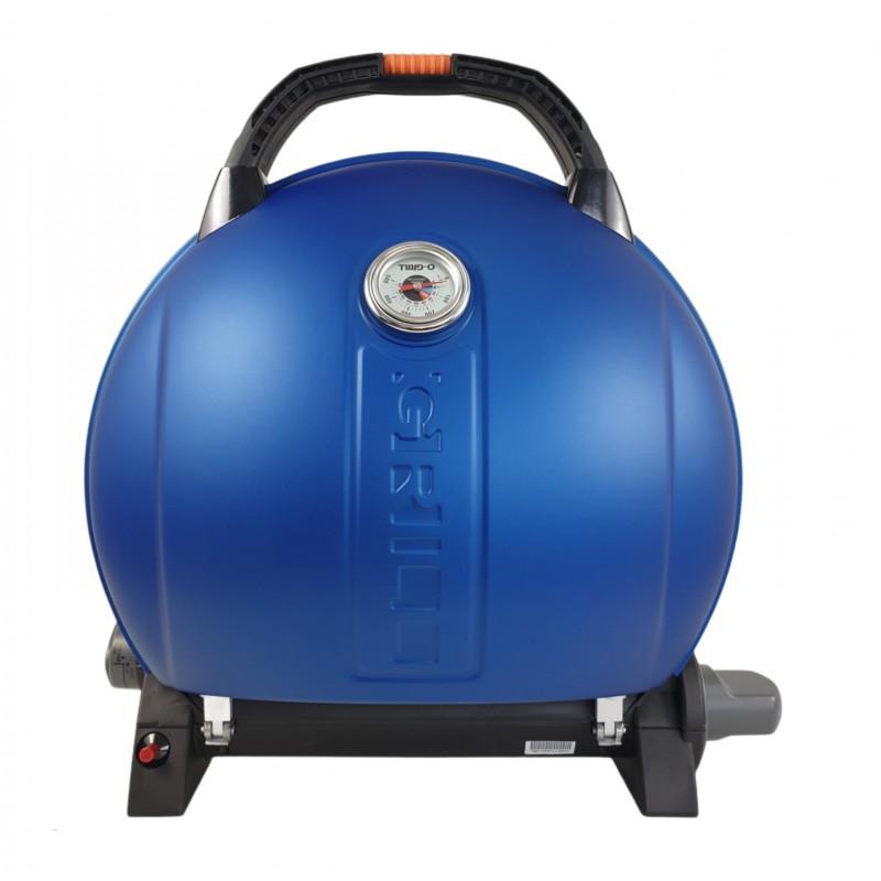 Gratar portabil cu capac O-GRILL 900, 3.2 kW, aprindere automata, 232 g/h, afisaj temperatura, Albastru shopu.ro