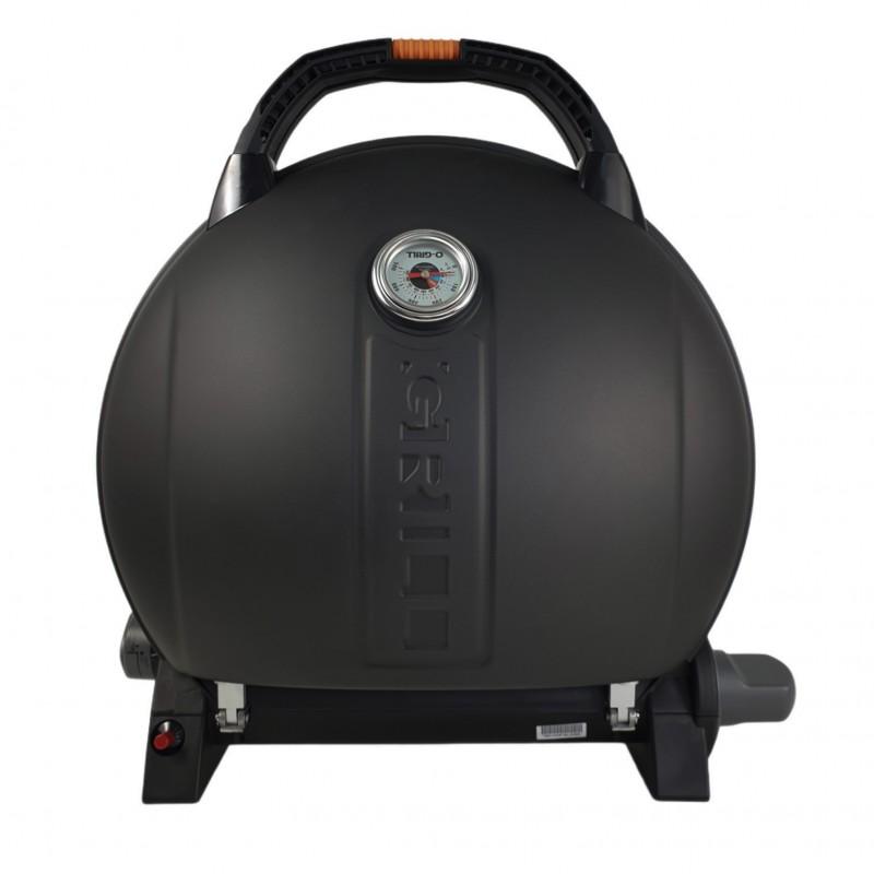 Gratar portabil cu capac O-GRILL 900, 3.2 kW, aprindere automata, 232 g/h, afisaj temperatura, Negru shopu.ro