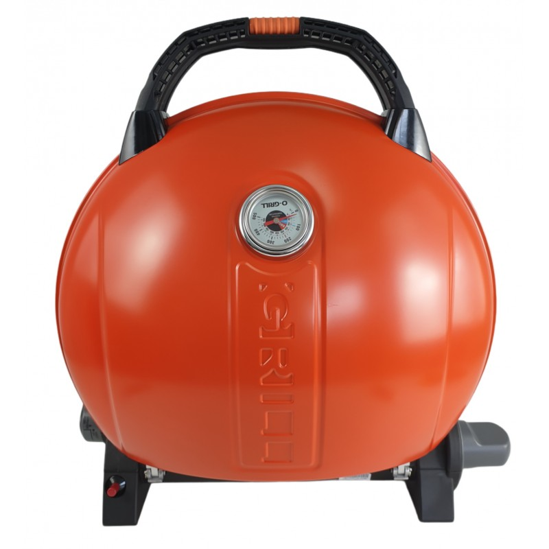 Gratar portabil cu capac O-GRILL 900, 3.2 kW, aprindere automata, 232 g/h, afisaj temperatura, Portocaliu shopu.ro