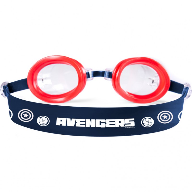 Ochelari inot Avengers Seven, silicon, lungime reglabila, marime universala, 3 ani+, Rosu/Negru 2021 shopu.ro