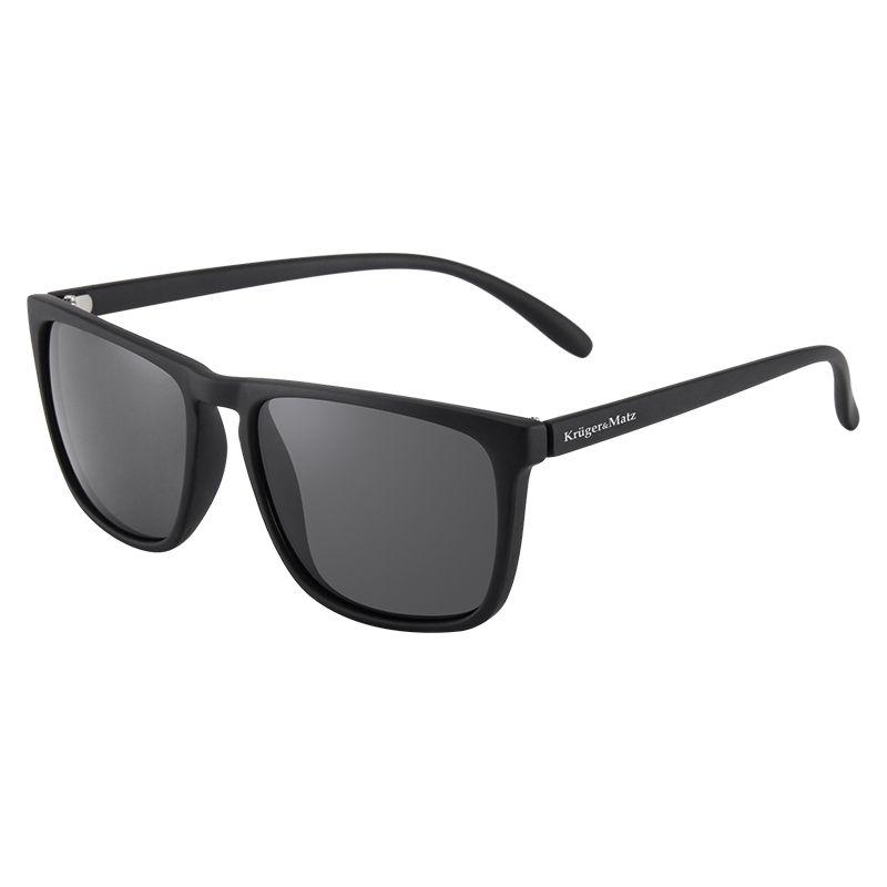 Ochelari soare polarizati Kruger & Matz, filtru UV, rama plastic, Negru 2021 shopu.ro