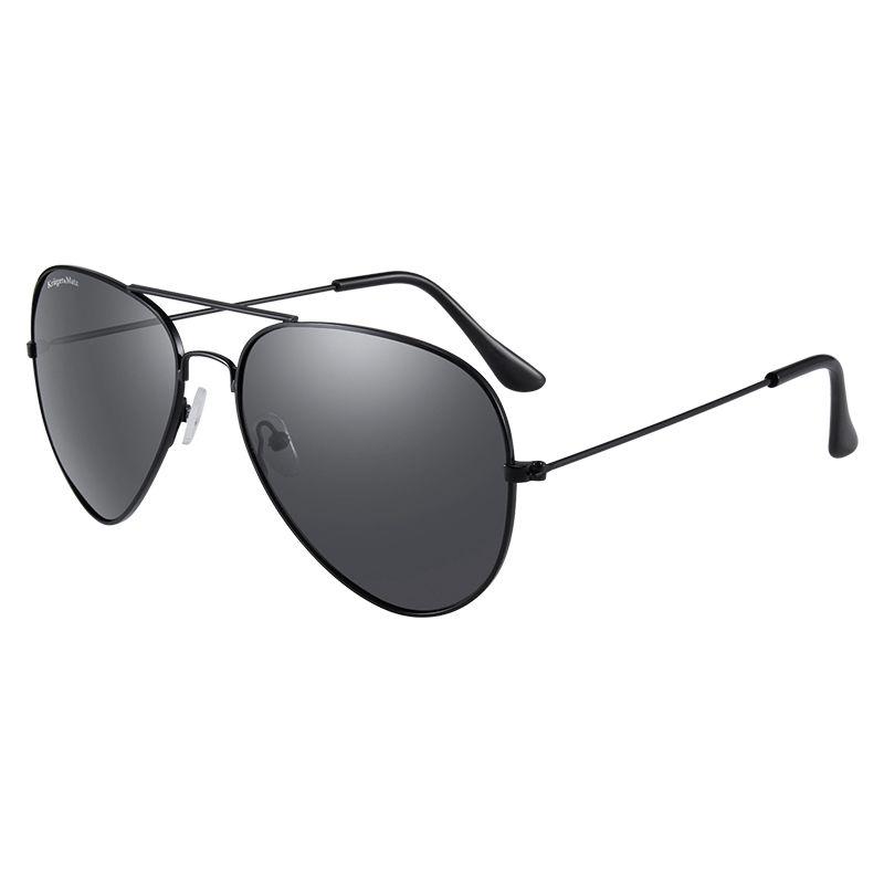 Ochelari de soare polarizati Kruger & Martz, filtru UV, rama metalica, stil aviator shopu.ro