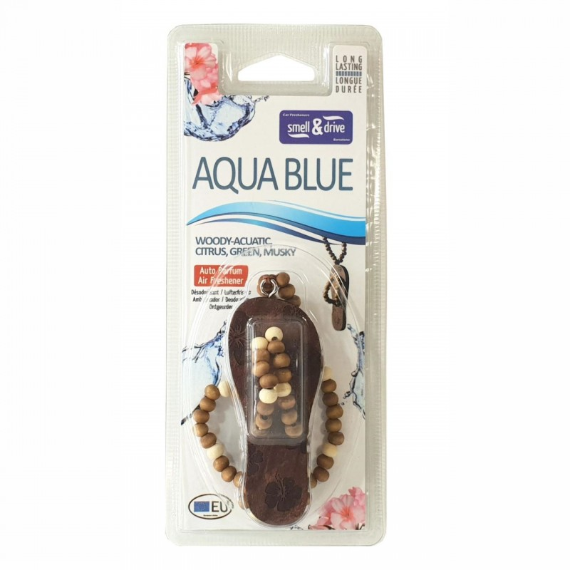 Odorizant auto Smell n Drive Flip Flop, aroma Aqua Blue 2021 shopu.ro