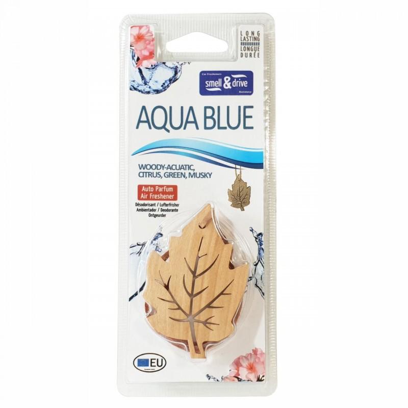 Odorizant auto Smell n Drive Leaf, aroma Aqua Blue 2021 shopu.ro