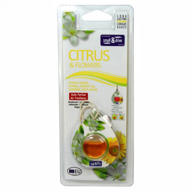 Odorizant auto tip membrana Smell n Drive, 2.5 ml, aroma Citrus 2021 shopu.ro