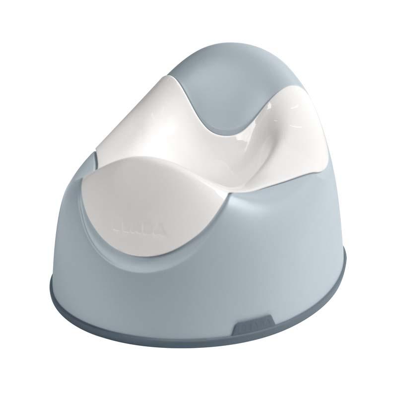 Olita ergonomica Light Mist Beaba, plastic, sistem antialunecare, Albastru/Alb 2021 shopu.ro