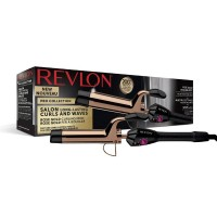Ondulator Revlon Salon Long Lasting Curls & Waves, 32 mm, cablu flexibil, invelis cupru/aur, maner cauciucat