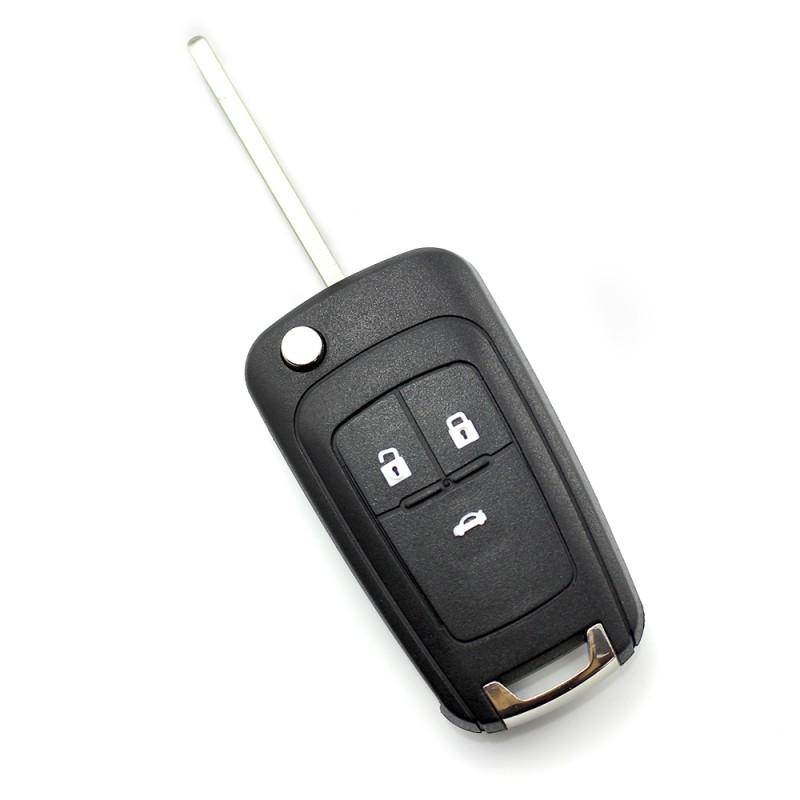 Carcasa cheie Opel/Chevrolet Carguard, 3 butoane, tip briceag, Negru 2021 shopu.ro