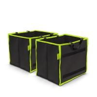 Set 2 organizatoare portbagaj MNC, 25 x 30 x 30 cm, portabil, Negru