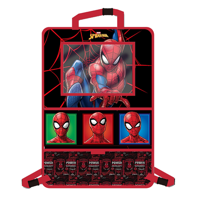 Organizator auto cu suport tableta Spiderman Disney, 9.7 inch, Rosu 2021 shopu.ro