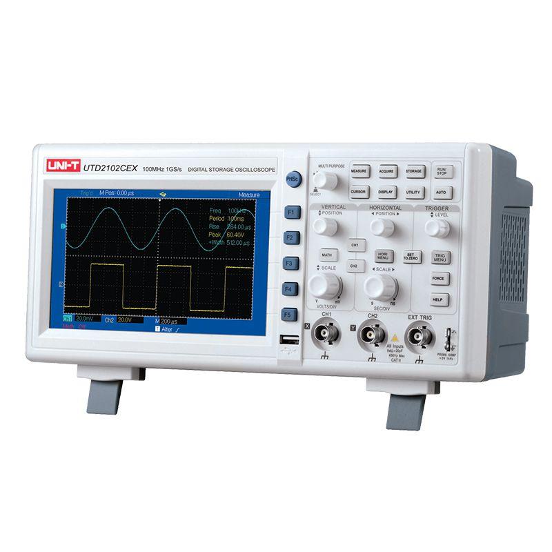 Osciloscop UTD2102CEX UNI-T, 2 canale, USB, RS-232 2021 shopu.ro