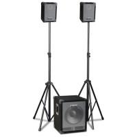 Sistem de sonorizare Ibiza 2.1, subwoofer activ, 4 canale, mixer, 280 W