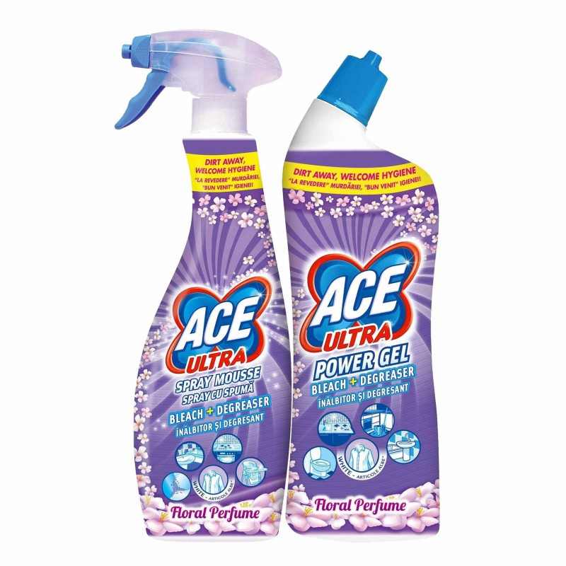 Gel inalbitor Ace Floral, 750 ml + Spray inalbitor Ace Floral, 700 ml 2021 shopu.ro