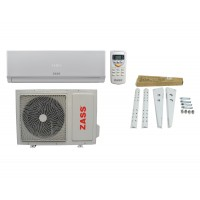 Aparat de aer conditionat Zass Inverter, 9000 BTU, clasa racire A++, clasa incalzire A+, temperatura lucru -15/+46, consola Zass inclusa