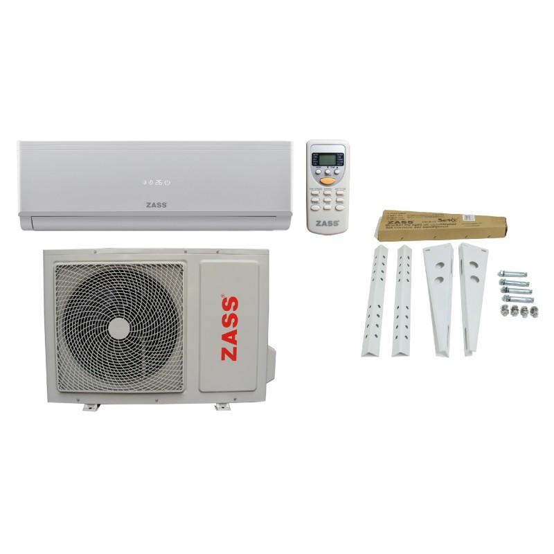Aparat de aer conditionat Zass Inverter, 9000 BTU, clasa racire A++, clasa incalzire A+, temperatura lucru -15/+46, consola Zass inclusa 2021 shopu.ro
