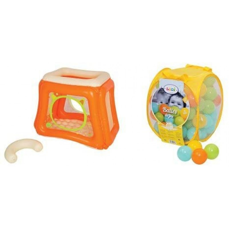 Spatiu de joaca gonflabil Ludi, 115 x 83 x 93 cm, PVC, bile incluse, 0 luni+, Multicolor 2021 shopu.ro