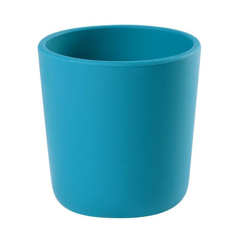 Pahar silicon Beaba, 70 x 70 mm, albastru 2021 shopu.ro