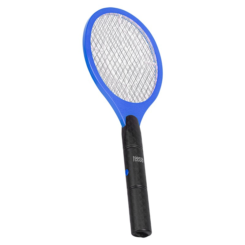Paleta electrica anti-insecte Teesa, 3 W, 2 x AA, 463 x 171 x 30 mm, Albastru/Negru 2021 shopu.ro