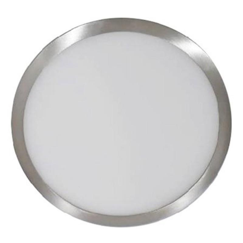 Panou LED aplicabil, 6 W, 420 lm, 3000 K, alb cald, rama cromata, forma rotunda 2021 shopu.ro