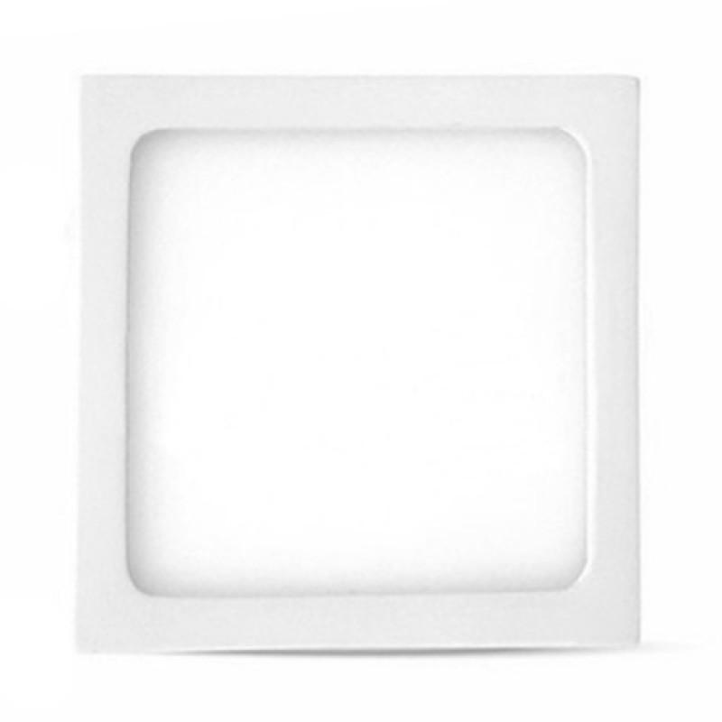 Panou LED aplicabil, 6 W, 4500 K, 400 lm, model patrat, lumina alb neutru 2021 shopu.ro