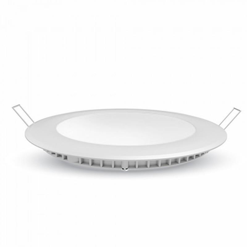 Panou LED incorporabil, model rotund, putere 6 W, 4000 K, alb neutru, cip samsung shopu.ro