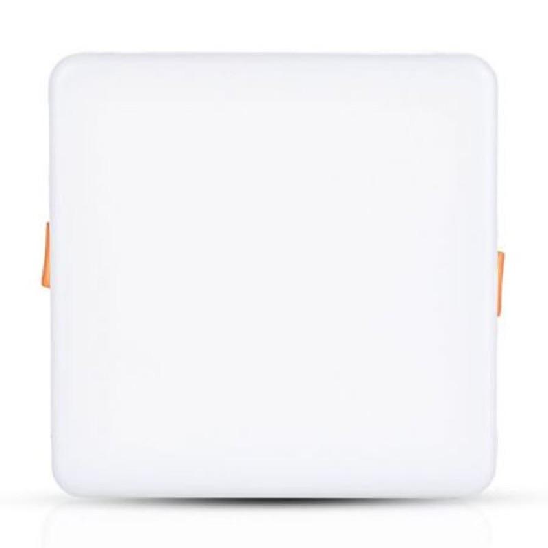 Panou LED patrat ajustabil, 18 W, 1350 lm, 4000 K, aluminiu, lumina alb neutru, Alb