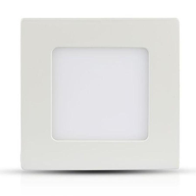 Panou LED patrat incorporabil, 18 W, 1500 lm, 3000 K, aluminiu, lumina alb cald, Alb 2021 shopu.ro