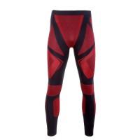 Pantaloni de corp termoactivi Lahti Pro, marimea S/M, poliamida/poliester, talie elastica, Negru/Rosu