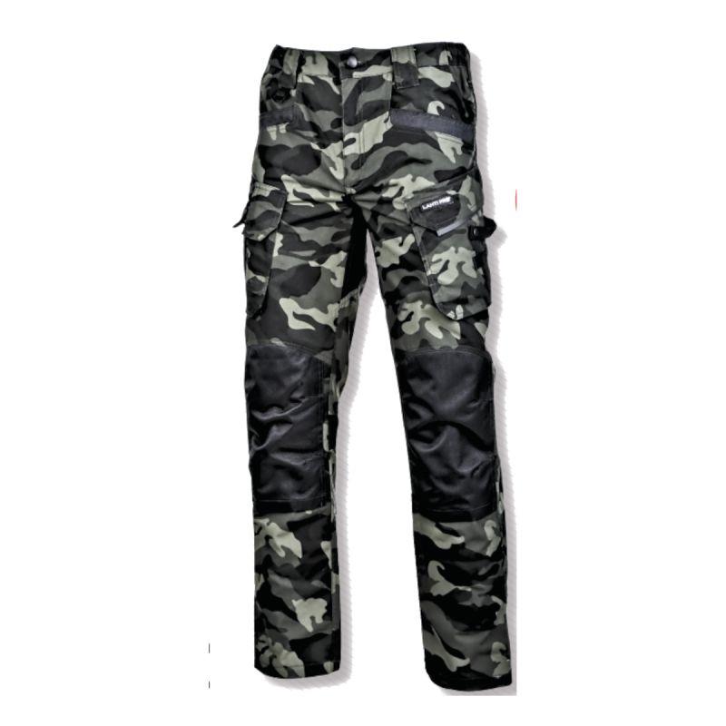 Pantaloni interventie cu intaritura Lahti Pro, marimea 3XL, 188-194 cm, model camuflaj, Verde 2021 shopu.ro