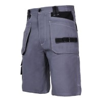 Pantaloni lucru scurti Lahti Pro, 100% bumbac, 10 buzunare, cusaturi triple, inel fixare cheie si ruleta, marime M