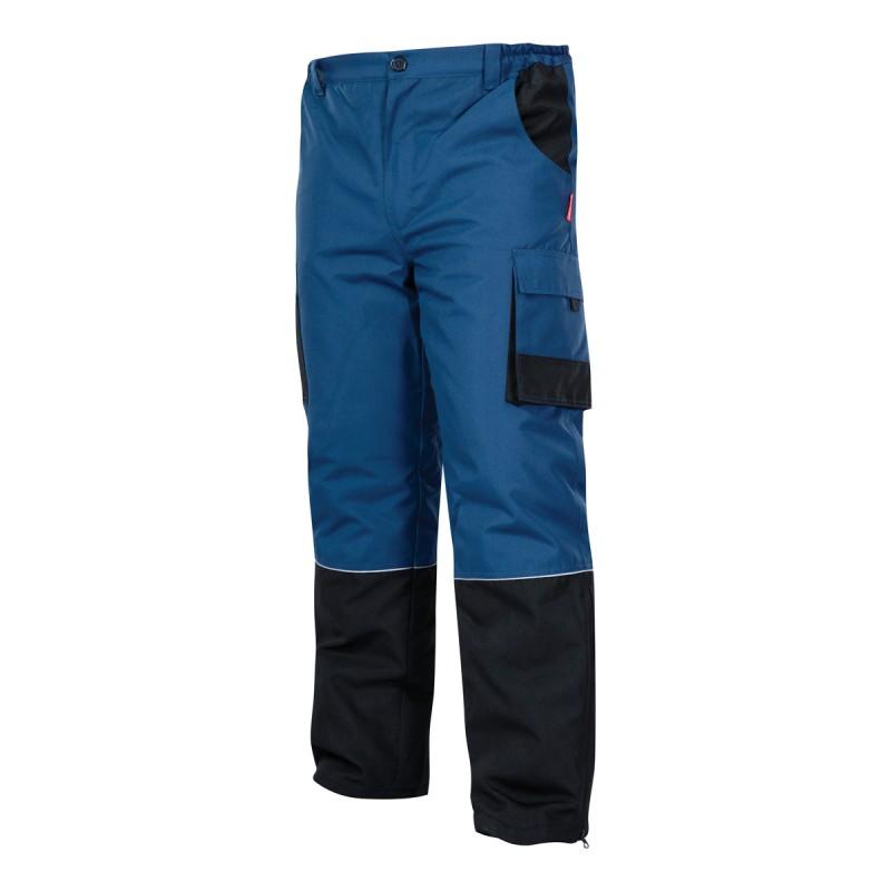 Pantaloni lucru captusiti, rezistenti la vant, 7 buzunare, componente reflectorizante, marime L