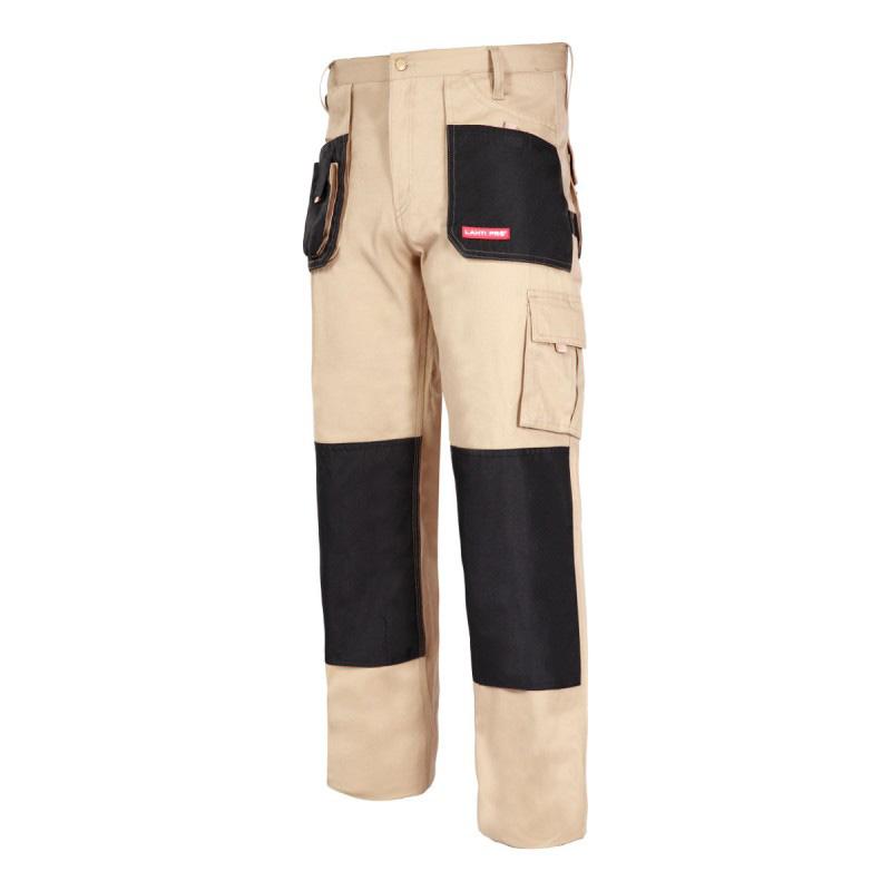 Pantaloni lucru grosi, 100% bumbac, 9 buzunare, cusaturi triple, inel fixare cheie, marime 2L/54