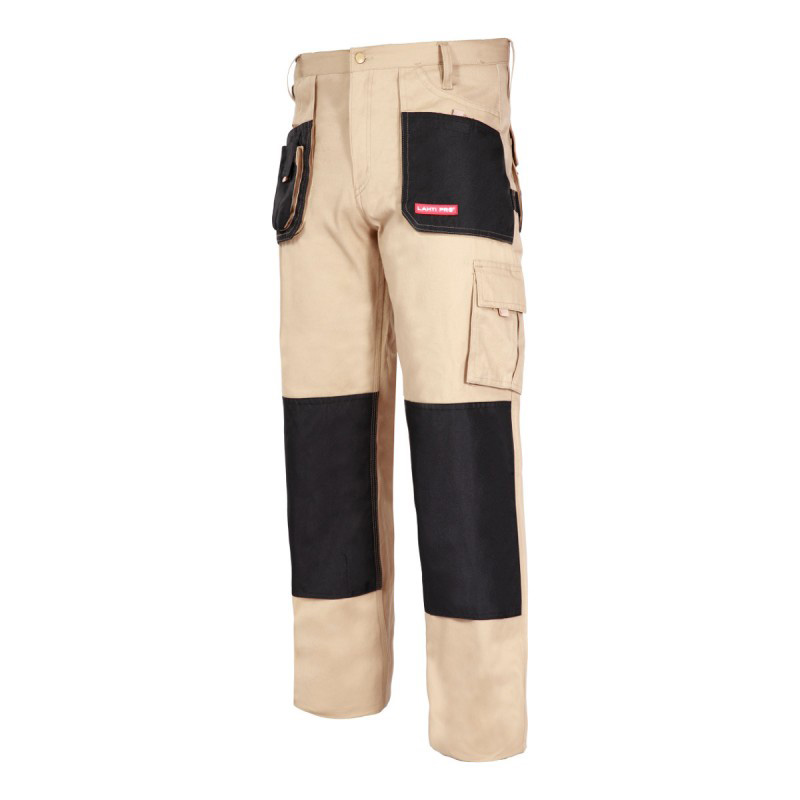 Pantaloni lucru grosi, 100% bumbac, 9 buzunare, cusaturi triple, inel fixare cheie, marime 3XL/60 2021 shopu.ro