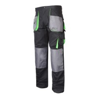 Pantaloni lucru grosi, 100% bumbac, 9 buzunare, cusaturi triple, talie ajustabila, marime XL/56