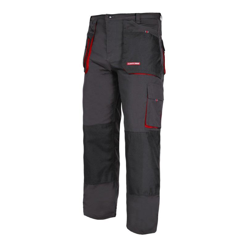 Pantaloni lucru grosi, 9 buzunare, talie ajustabila, banda suport ciocan, marime L/52 shopu.ro