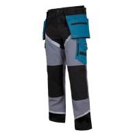 Pantaloni lucru grosi premium, 24 buzunare, 2 inele pentru scule, talie ajustabila, marime L
