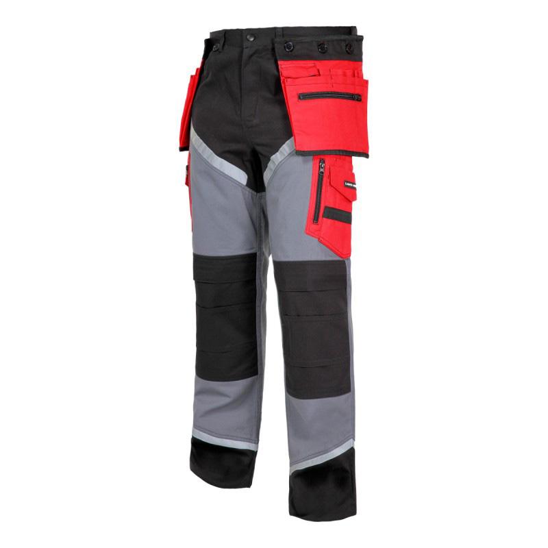 Pantaloni lucru grosi premium, 24 buzunare, cusaturi triple, benzi reflectorizante, marime XL shopu.ro