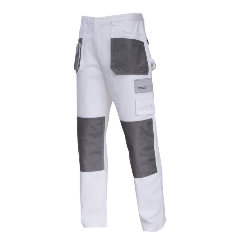 Pantaloni lucru bumbac mediu-gros Lahti Pro, marimea XL, alb 2021 shopu.ro