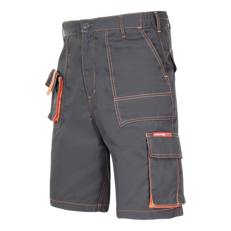 Pantaloni lucru scurt mediu-gros, 7 buzunare, talie ajustabila cu elastic, cusaturi duble, marime XL shopu.ro