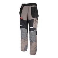 Pantaloni lucru slim-fit confortabili, 13 buzunare, elemente reflectorizante, marime 2XL