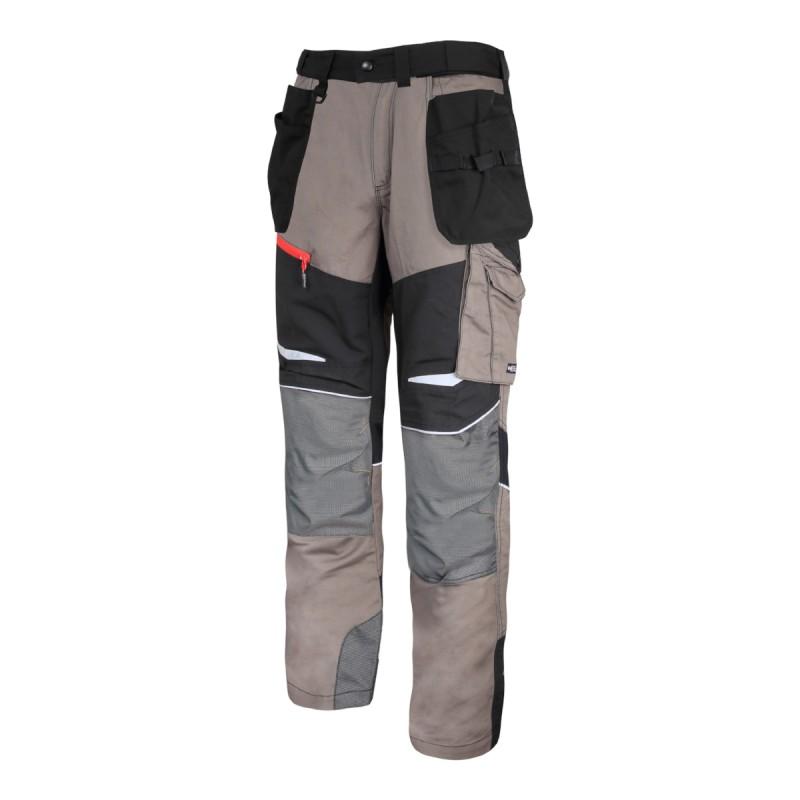 Pantaloni lucru slim-fit confortabili, 13 buzunare, elemente reflectorizante, marime 3XL