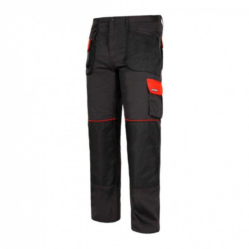 Pantaloni lucru subtiri, 9 buzunare, cusaturi triple, talie ajustabila, marime 3XL/60 shopu.ro