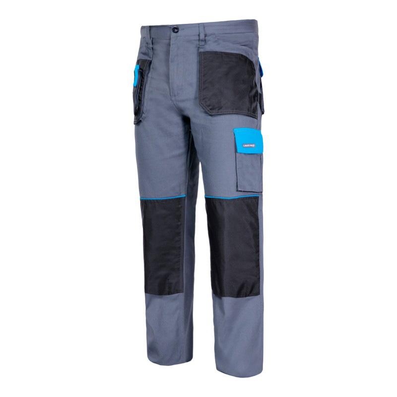 Pantaloni lucru subtiri, 100% bumbac, 9 buzunare, talie ajustabila, marime L/52 shopu.ro
