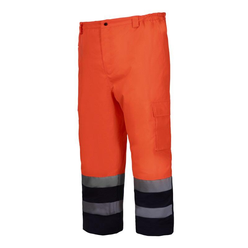 Pantaloni reflectorizanti captusiti, impermeabili, termoizolatori, 6 buzunare, marime M, Portocaliu shopu.ro