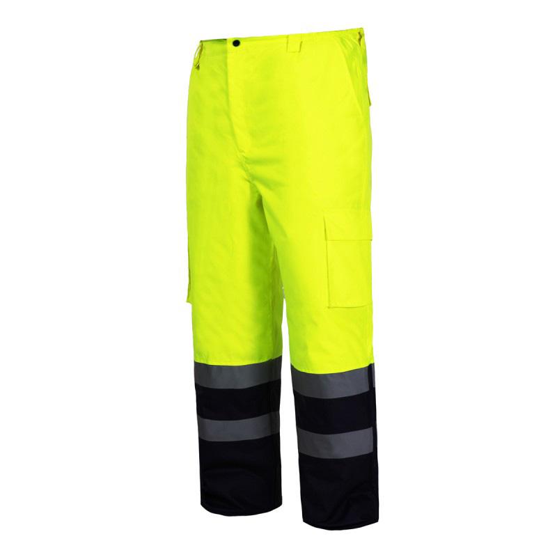 Pantaloni reflectorizanti captusiti, impermeabili, termoizolatori, 6 buzunare, marime 2XL, Verde shopu.ro