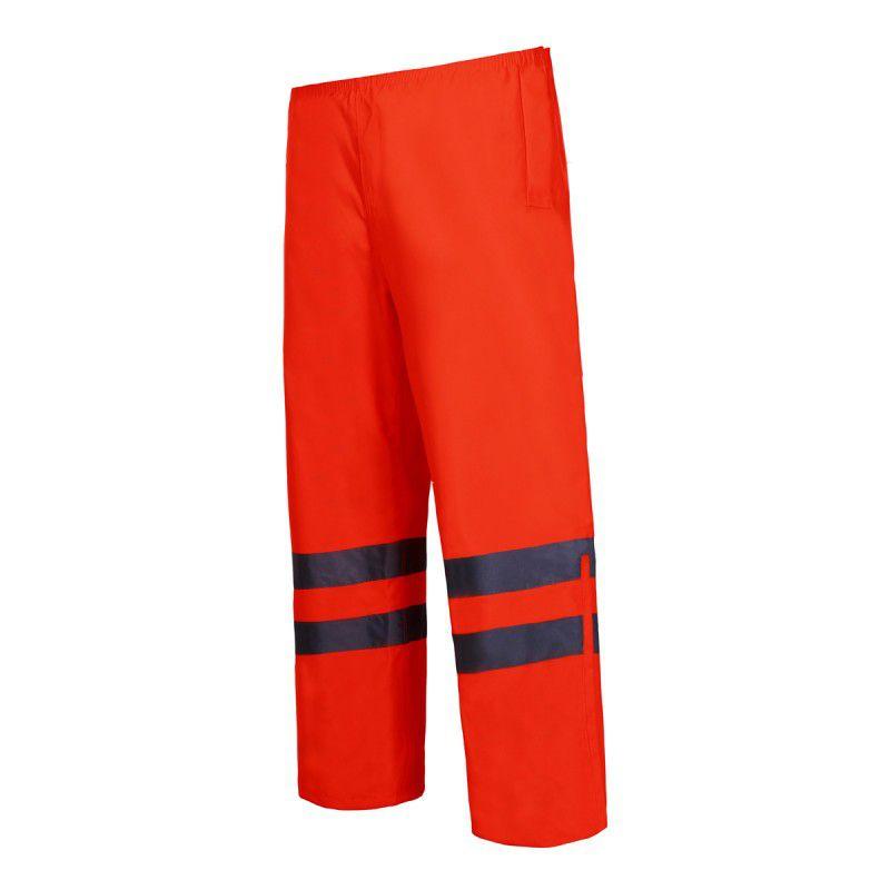 Pantaloni reflectorizanti impermeabili, utilizabili in ploaie, 2 buzunare, marime 2XL, Portocaliu 2021 shopu.ro
