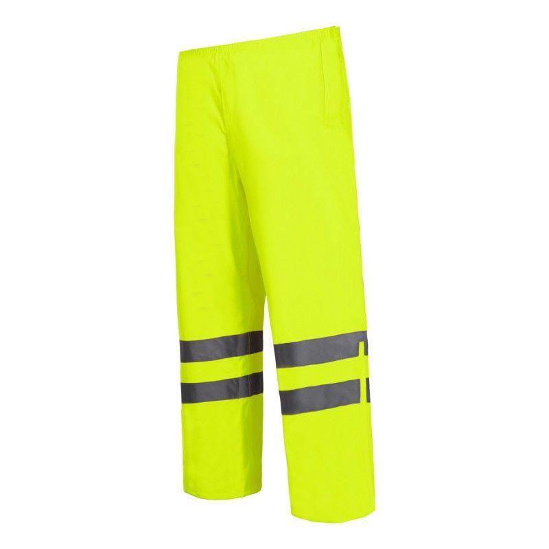 Pantaloni reflectorizanti impermeabili, utilizabili in ploaie, 2 buzunare, marime 2XL, Verde shopu.ro